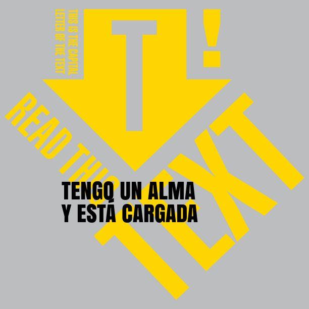 TENGO UN ALMA Y ESTÁ CARGADA  Notegraphy - #Dulceanding
