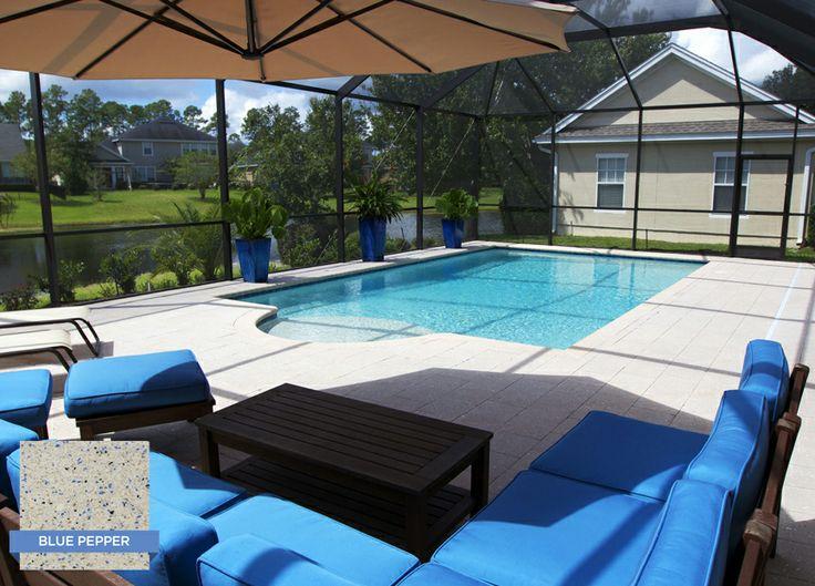 Krystalkrete blue pepper is a popular color in florida and for Pool design jacksonville fl