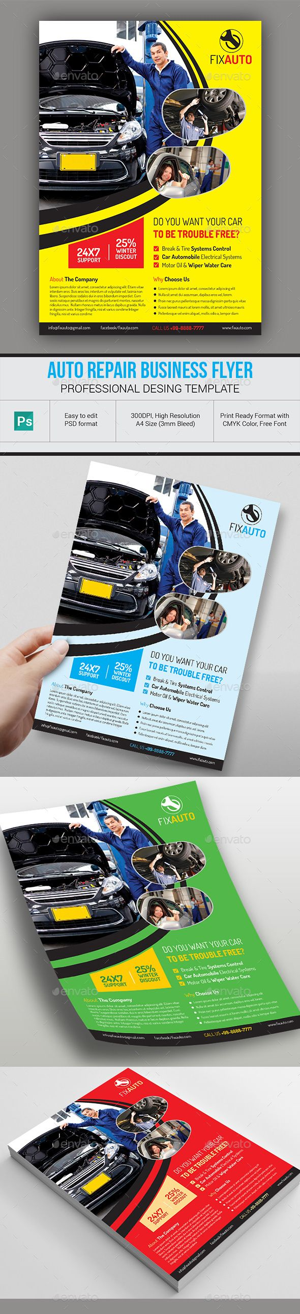 automotive repair flyers examples north road auto 845 471 8255