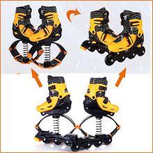 2 En 1 de Skate Y Salto de Canguro Zapatos de Ejercicio de la Aptitud 20 ~ 70 kg (44lb-154lb) Espacio Rebote Zapatos saltar Y Skate(China (Mainland))