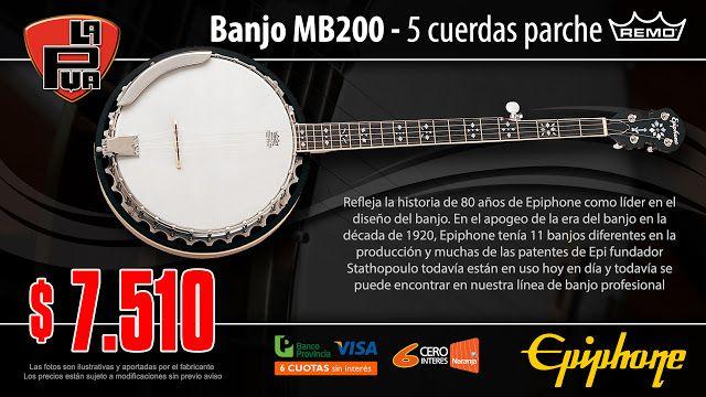 La Púa San Miguel: Banjo EPIPHONE MB200 - 5 cuerdas parche REMO