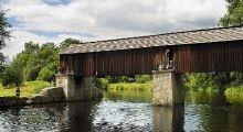 """Lenora - dřevěný zastřešený most """"rechle"""" byl využíván při plavení dřeva, foto: Libor Sváček, archiv Vydavatelství MCU s.r.o."""