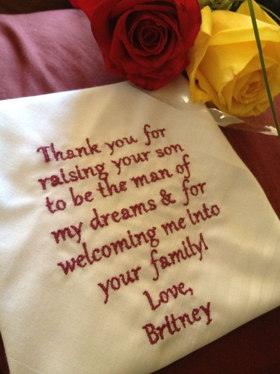 Father of The Groom  personalized cutom made handkerchief. $18.00, via Etsy.