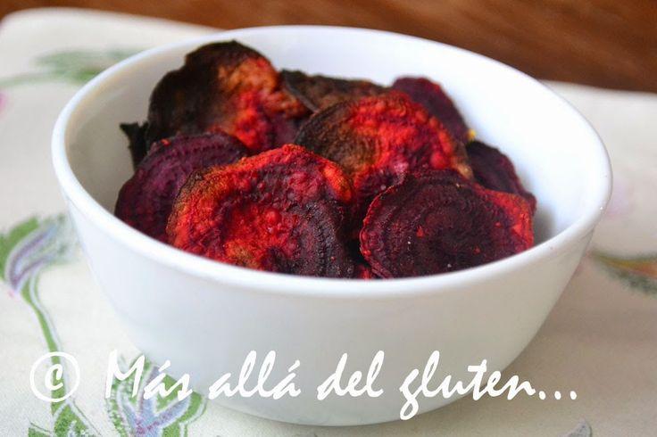 Más allá del gluten...: Chips de Remolacha al Horno (Receta SCD, GFCFSF, Vegana)