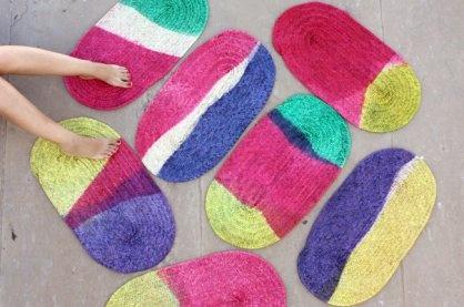 Tapete de palma colorido - Contemporâneos - FEITORIA