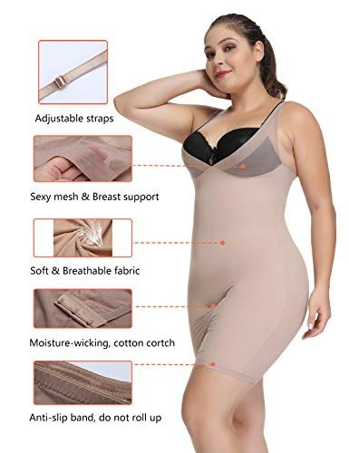 04101e5eca Joyshaper Full Slips for Women Under Dresses Long Cami Slip Dress Seamless  Slimming Slip Shapewear