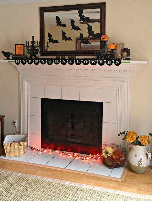 Una invasione di pipistrelli sopra il caminetto! Idea geniale per decorare la casa ad Halloween! - #halloween #decori #faidatte #casa