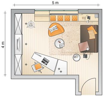 Gäste- und Arbeitszimmer-Kombi - Arbeitszimmer - [SCHÖNER WOHNEN]