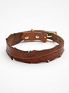 Tooled Feather Collar   free people pet project