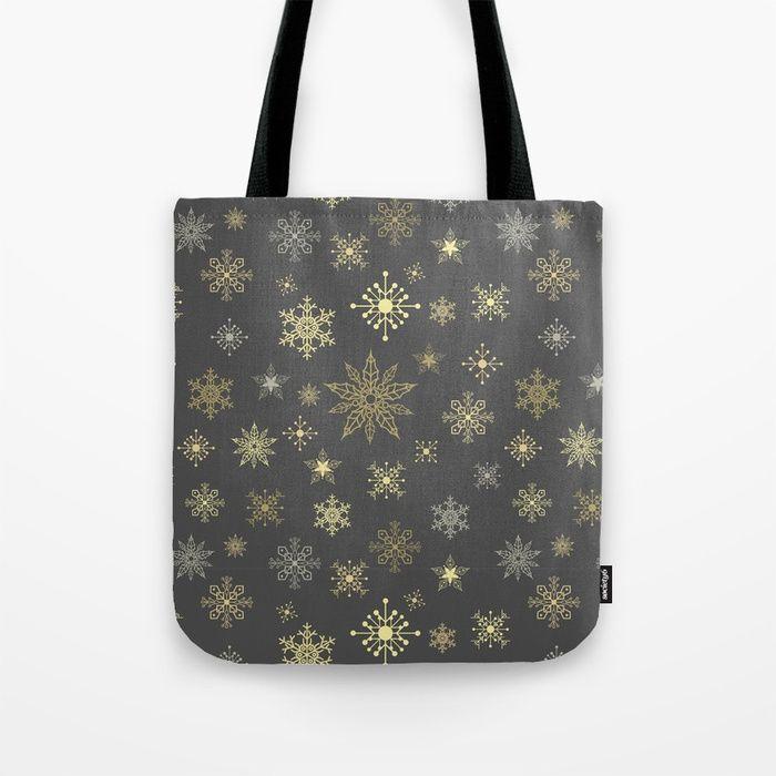 Gold christmas Tote Bag