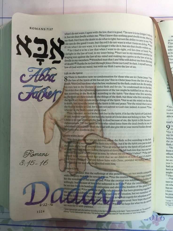 """Romans 8: 15-16 Whereby we cry """"Abba Father"""" inspired by the """"I Know His Name"""" Bible Study by Wendy Blight."""