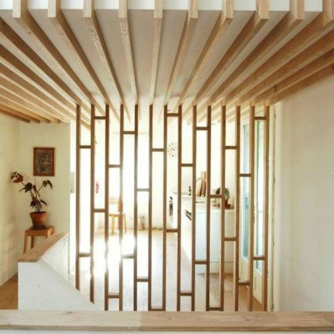 The 25 best ideas about wood partition on pinterest - Wooden glass partition design ...