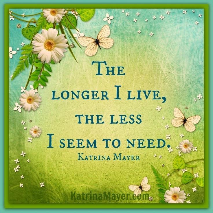Exceptional Less You Need Quote Via Www.KatrinaMayer.com