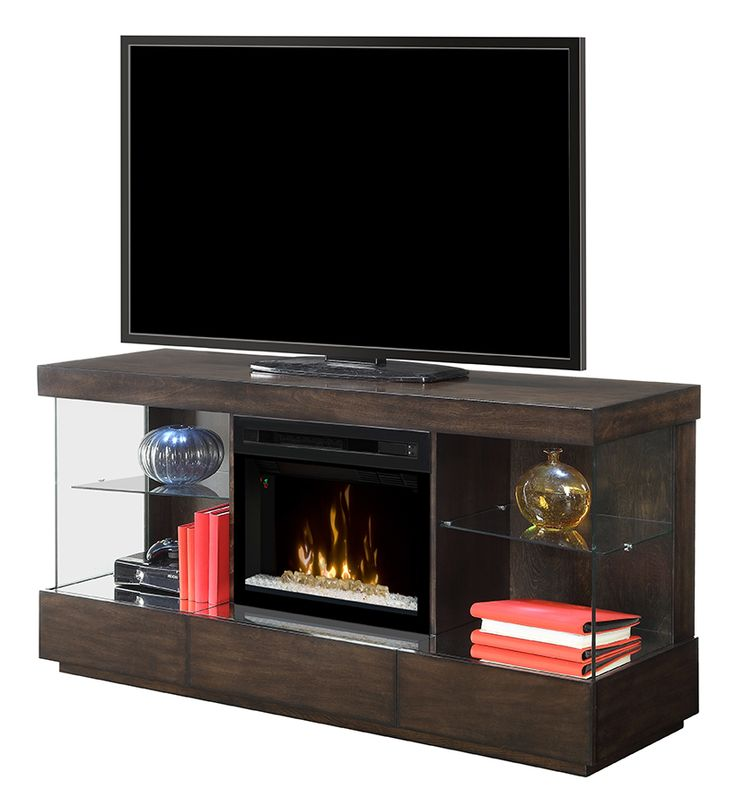 The new Camila Media Console comes in a Mink finish: GDS25GD-1591MK #Dimplex #fireplace #hpmkt