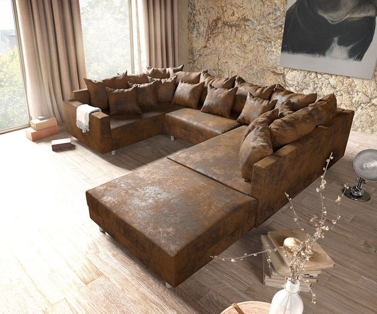 24 best big sofa images on Pinterest Big sofas, Couches and Sofa - wohnzimmer weis beige braun
