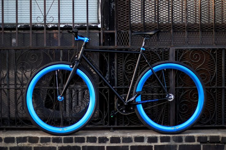 Blue Fixie Bike
