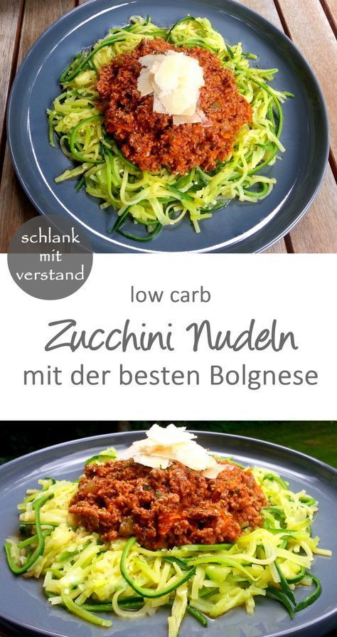 Zucchini Nudeln Bolognese – low carb