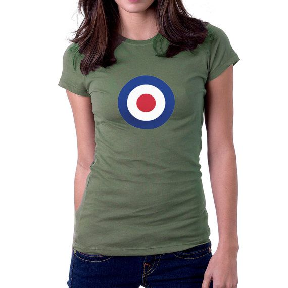 #RAF Roundel T-shirt.Well they helped defend these islands in 1940, and now their roundel has pulled Bradley Wiggins around to win the Tour de France and an Olympic Gold Med... #flag #britain #war #wwii #airforce #military #mod #raf #spitfire #hurricane #uk ➡️ http://etsy.me/2ib1pB7