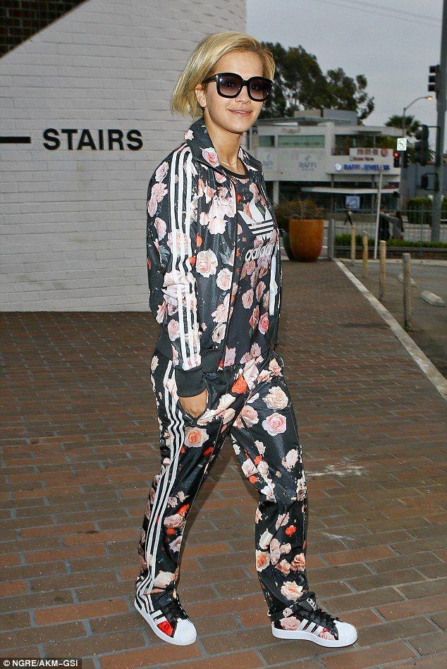 adidas floral jumpsuit