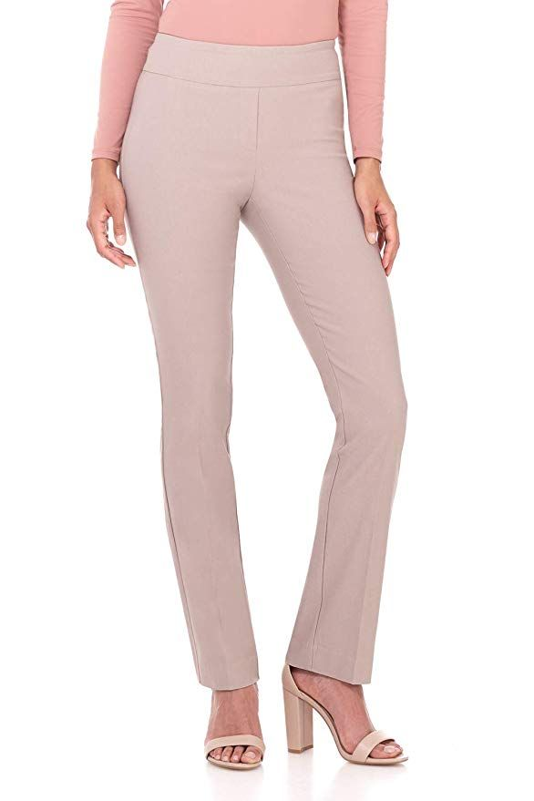 956f5c0769b Rekucci Women s Ease in to Comfort Straight Leg Pant with Tummy Control at  Amazon Women s Clothing