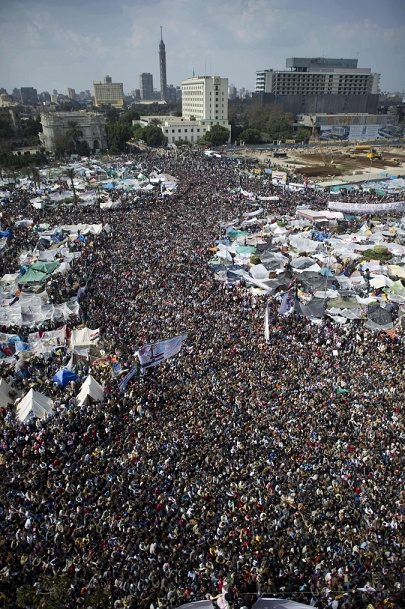Protestors in Tahrir Square. We stood as one.