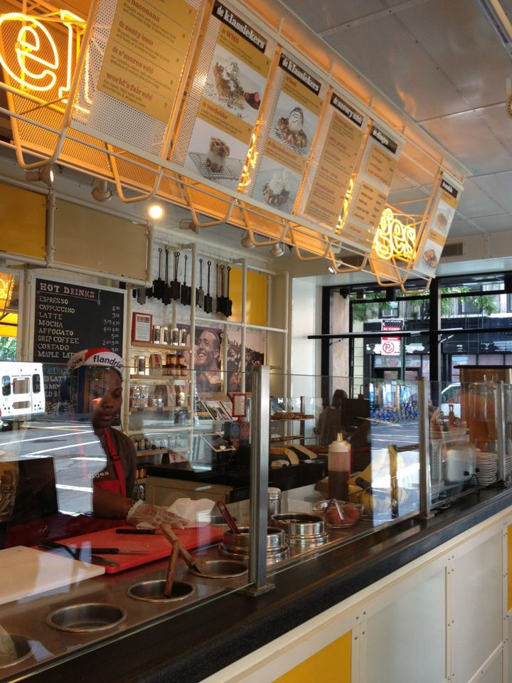 Brick and mortar location of Wafels and Dinges. More savory menu options.