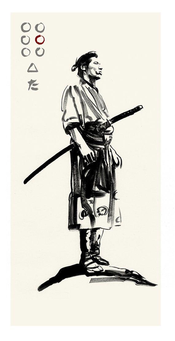 Akira Kurosawa's SEVEN SAMURAI Katsuhiro by Greg Ruth ✤ || CHARACTER DESIGN REFERENCES | キャラクターデザイン • Find more at https://www.facebook.com/CharacterDesignReferences