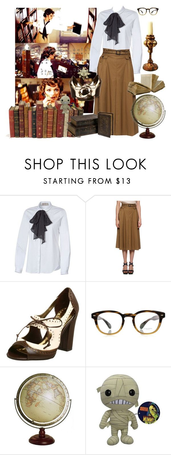 """The Mummy Evelyn ""Evy"" Carnahan Rachel Weisz"" by lilbailey ❤ liked on Polyvore featuring Rachel, Jason Wu, BCBGirls, Oliver Peoples, mummy, books, rachel weisz, ancient, evy and film"
