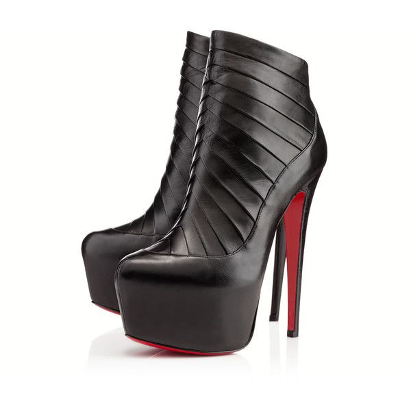 christian louboutin amor leather platform ankle boots