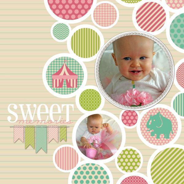 Sweet Memories...Baby Layout ⊱✿-✿⊰ Follow the Scrapbook Pages board visit GrannyEnchanted.Com for thousands of digital scrapbook freebies. ⊱✿-✿⊰