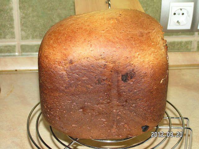 ....Szupermammi: kókuszos-mazsolás kalács kenyérsütőgépben