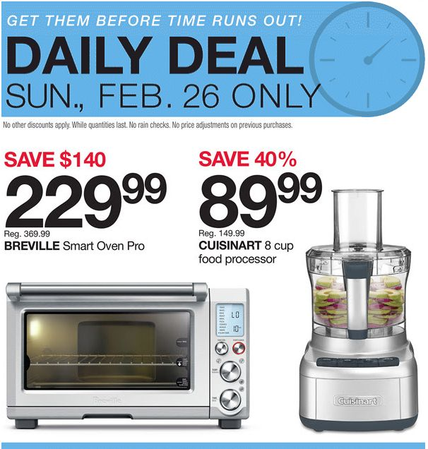 Home Outfitters Canada Daily Deals: Today Save 38% on Breville Smart Oven Pro 40% on Cuisinart 8 cup Food Proce... http://www.lavahotdeals.com/ca/cheap/home-outfitters-canada-daily-deals-today-save-38/178066?utm_source=pinterest&utm_medium=rss&utm_campaign=at_lavahotdeals