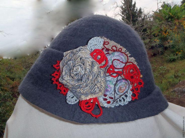 Купить Сумерки - серый, шляпа, шляпка, шляпка женская, фелтинг, валяние из шерсти, валяная шляпка