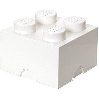 LEGO Lizenzkollektion 40031735 - Stapelbare Aufbewahrungsbox 4 Noppen, weiß