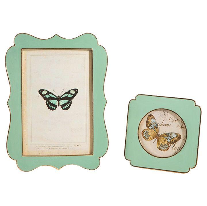 The Jolly Christmas Shop - Raz Green Butterfly Photo Frames Set Of 2 3715944, $34.99 (https://www.thejollychristmasshop.com/raz-green-butterfly-photo-frames-set-of-2-3715944/)
