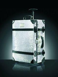 Swarovski encrusted samsonite luggage