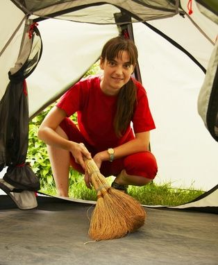 how to clean a tent tips  ....well besides the obvious?  lol
