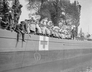 World War I nurses, fishing.  IWM