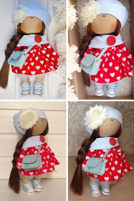 Tilda doll Fabric doll toy Interior doll Art by AnnKirillartPlace