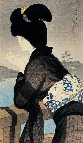 Evening Cool / 伊東深水 Ito Shinsui / 1922