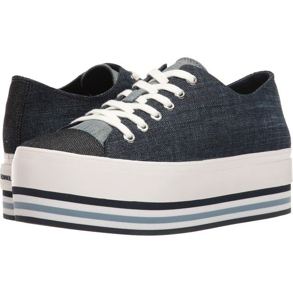 MICHAEL Michael Kors Ronnie Sneaker (Indigo Denim) Women's Shoes ($100) ❤ liked on Polyvore featuring shoes, sneakers, blue, blue sneakers, indigo shoes, michael michael kors shoes, platform sneakers and blue shoes