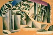 Stage design for William Shakespeare's play 'Romeo and Julie...  by Lyubov Popova
