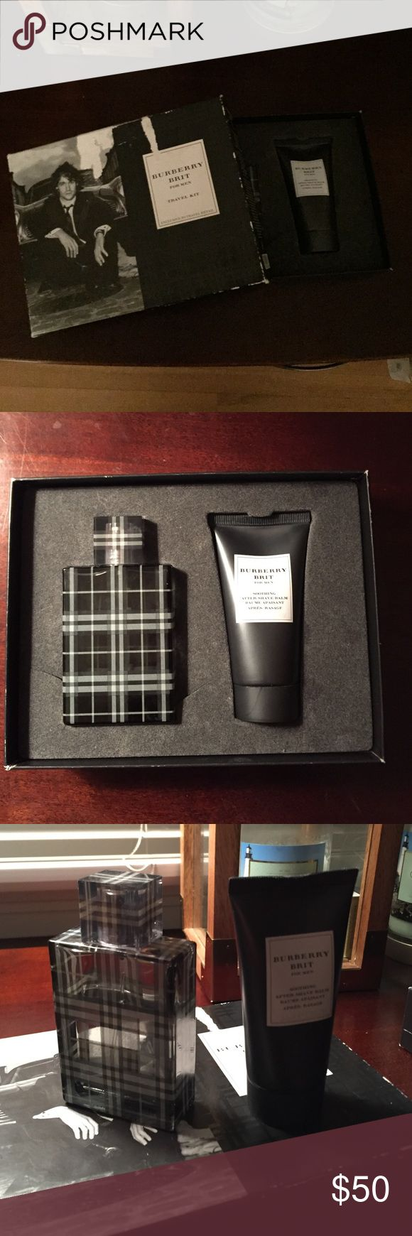 Burberry brit for men 1.7 oz bottle burberry brit for men is about 2/3 full and the travel lotion is about 1/2 full and both smell great! Burberry Makeup