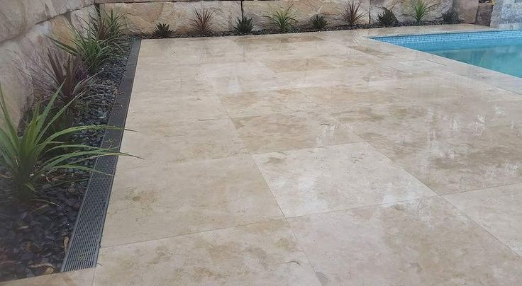 Amber Tiles Kellyville: Not all stone is made equal. Premium Classic Travertine #travertine #naturalstone #poolsurround #poolinspiration #ambertiles #ambertileskellyville