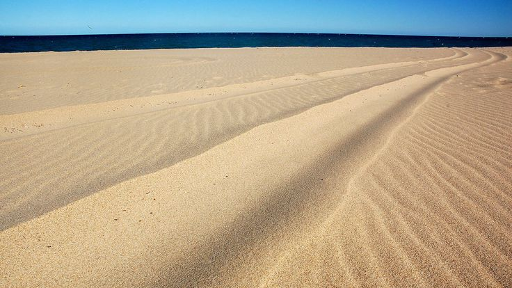 L.A. Times staffer Christopher Reynolds snapped this photo of dunes flanking the Gulf of California south of San Felipe in Baja California.