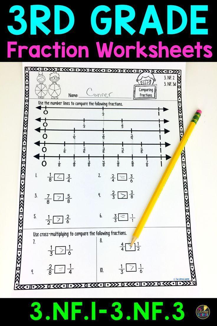 3rd Grade Fraction Worksheets Fractions Worksheets 3rd Grade Fractions Math Fractions Worksheets