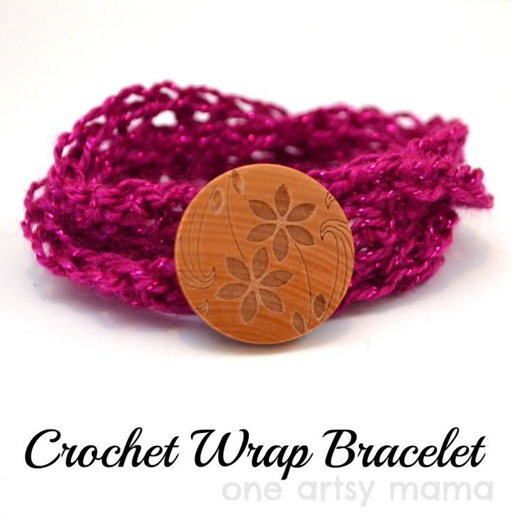 Easy Crochet Wrap Bracelet - One Artsy Mama