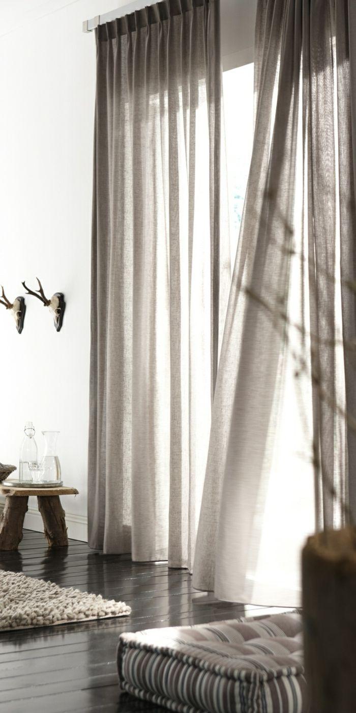 Elegantes Wohnzimmer Interieur Rustikale Elemente Moderne Gardinen Für Wohnzimmer Gardinen Modern Vorhänge Modern Gardinen Ideen