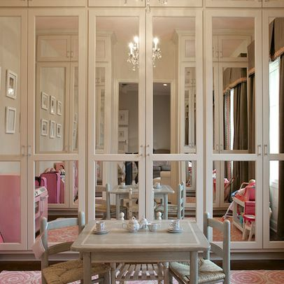 guest room closet doors - love the mirrors