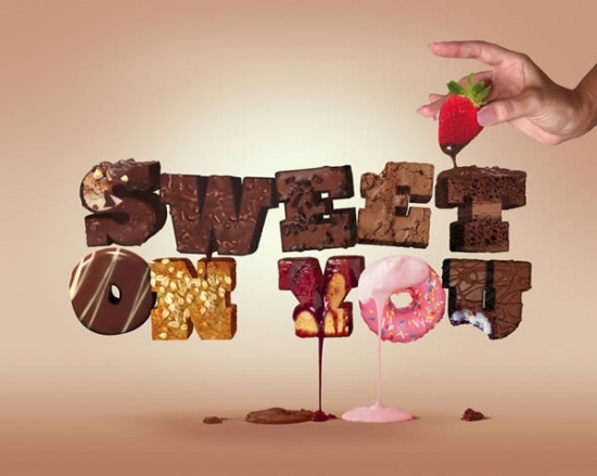 25+ Tempting and Fabulous Food Typography Design
